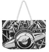 Buick Skylark Wheel Black And White Weekender Tote Bag