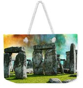 Building A Mystery - Stonehenge Art By Sharon Cummings Weekender Tote Bag