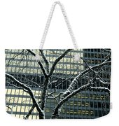 Building Reflection And Tree Weekender Tote Bag