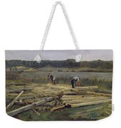 Building Site At Wesslingersee, 1876 Oil On Canvas Weekender Tote Bag