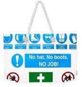 Building Site Safety Weekender Tote Bag by Tom Gowanlock