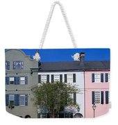 Buildings In A City, Rainbow Row Weekender Tote Bag