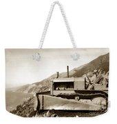 Bull Dozer Road Construction On Highway One Big Sur Circa 1930 Weekender Tote Bag
