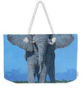 Bull Elephant Weekender Tote Bag