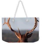 Bull Elk Portrait Weekender Tote Bag