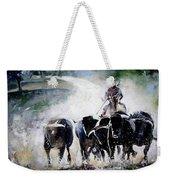 Bull Herd Weekender Tote Bag