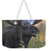 Bull Moose Calling Weekender Tote Bag by Gary Langley