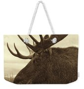 Bull Moose In Sepia Weekender Tote Bag