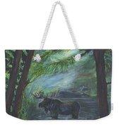 Bull Moose Pond Weekender Tote Bag