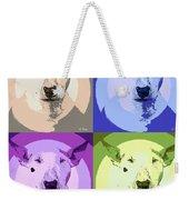 Bull Terrier Pop Art Weekender Tote Bag