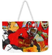 Bulldog Back Weekender Tote Bag