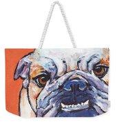 Bulldog Weekender Tote Bag