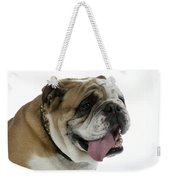 Bulldog, Male Panting Weekender Tote Bag
