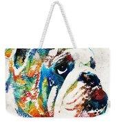 Bulldog Pop Art - How Bout A Kiss - By Sharon Cummings Weekender Tote Bag
