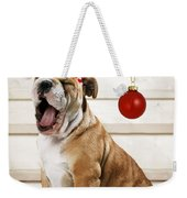 Holiday Bulldog Puppy  Weekender Tote Bag