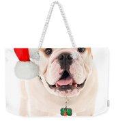 Bulldog Santa Weekender Tote Bag