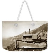 Bulldozer Working On Highway One Big Sur Circa 1930 Weekender Tote Bag
