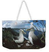Bullers Albatrosses On Storm-lashed Weekender Tote Bag