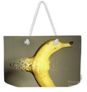 Bullet Piercing A Banana Weekender Tote Bag