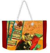 Bullfight Poster Weekender Tote Bag