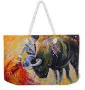 Bullfighting In Neon Light 02 Weekender Tote Bag