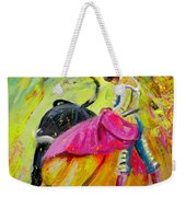 Bullfighting In Neon Light 01 Weekender Tote Bag