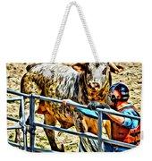 Bullrider And His Bull Weekender Tote Bag