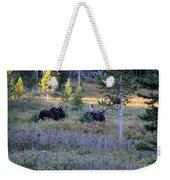 Bulls In The Meadow Weekender Tote Bag
