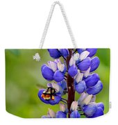 Bumble Bee And Lupine Weekender Tote Bag