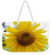 Bumble Bee And Sunflower Weekender Tote Bag
