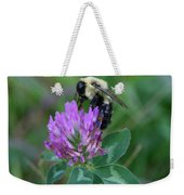 Bumble Bee On Red Clover  Weekender Tote Bag