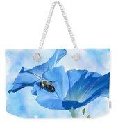Bumblebee And Blue Morning Glory Weekender Tote Bag