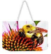 Bumblebee On Echinacea  Weekender Tote Bag