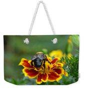 Bumblebee On Marigold Weekender Tote Bag