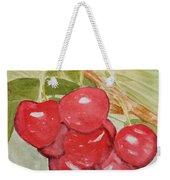 Bunch Of Red Cherries Weekender Tote Bag