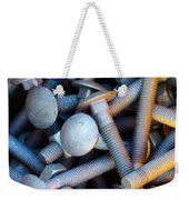 Bunch Of Screws Weekender Tote Bag by Carlos Caetano