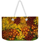 Bunches Of Yellow Copper Orange Red Maroon - Hot Autumn Abundance Weekender Tote Bag