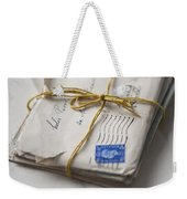 Bundle Of Vintage Letters Weekender Tote Bag