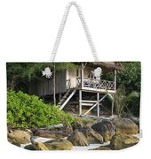 Bungalow In Koh Rong Island Beach In Cambodia Weekender Tote Bag