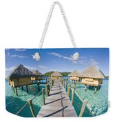 Bungalows Over Ocean Weekender Tote Bag