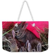 Bunnies In Pink Weekender Tote Bag