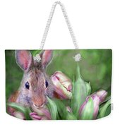 Bunny In The Tulips Weekender Tote Bag