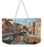 Burano Canal Venice Weekender Tote Bag