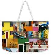Burano Italy Collage Weekender Tote Bag