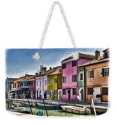 Burano Italy - Colorful Homes Weekender Tote Bag