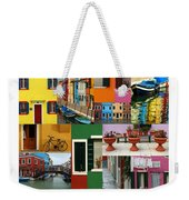 Burano Italy Poster Weekender Tote Bag