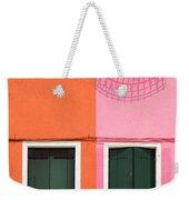 Burano Pink And Orange Weekender Tote Bag