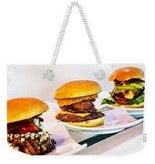 Burger Time Weekender Tote Bag