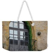 Burgundy Window Weekender Tote Bag