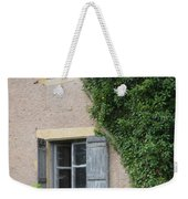 Wood Shutters With Vine Weekender Tote Bag